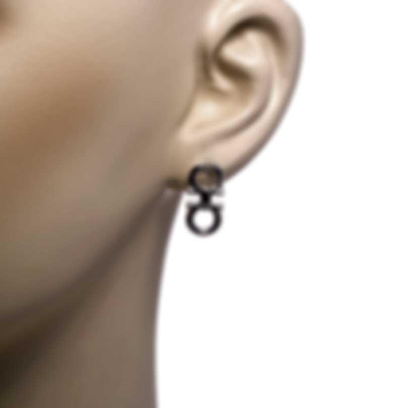 Ferragamo Gancini Sterling Silver Earrings 704209