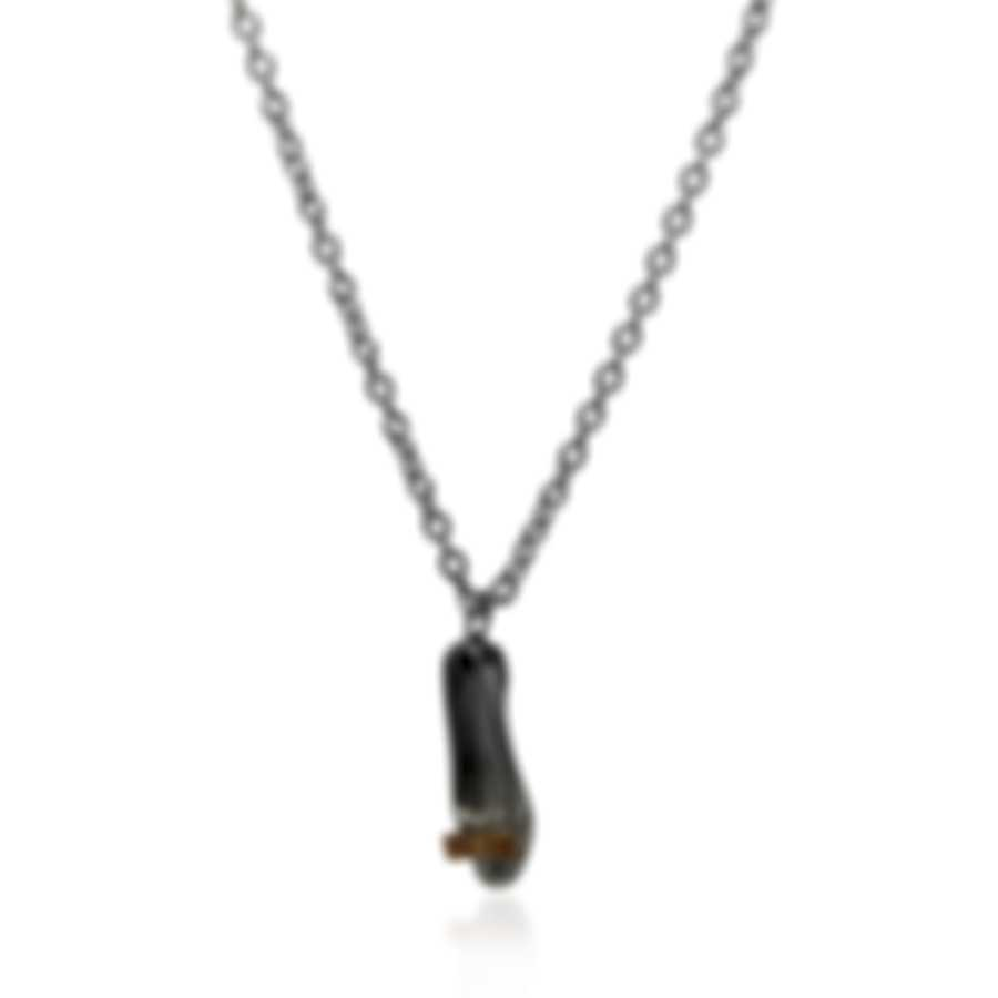 Ferragamo Charms Sterling And Gold Plated Necklace 705111