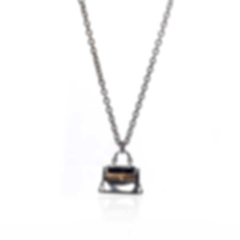 Ferragamo Charms Sterling Silver And Gold Plated Necklace 705112