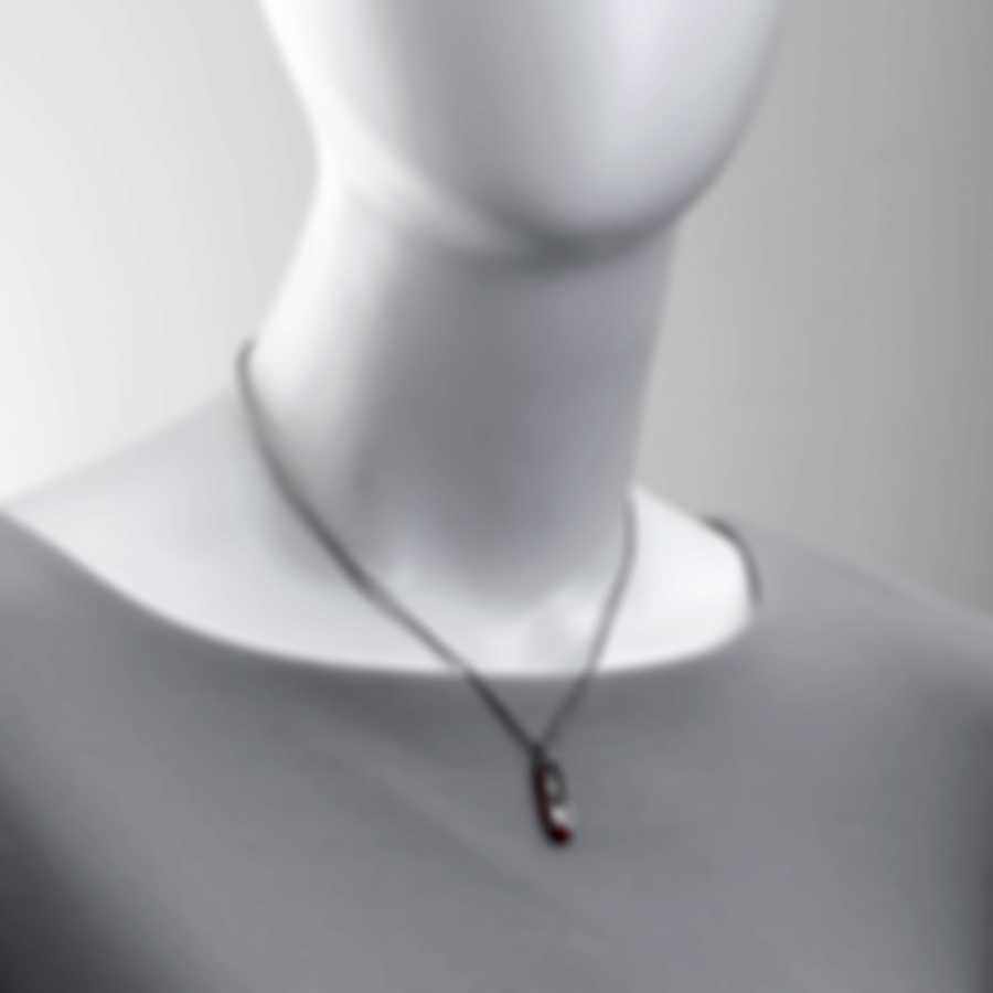 Ferragamo Charms Sterling Silver And Enamel Necklace 705115