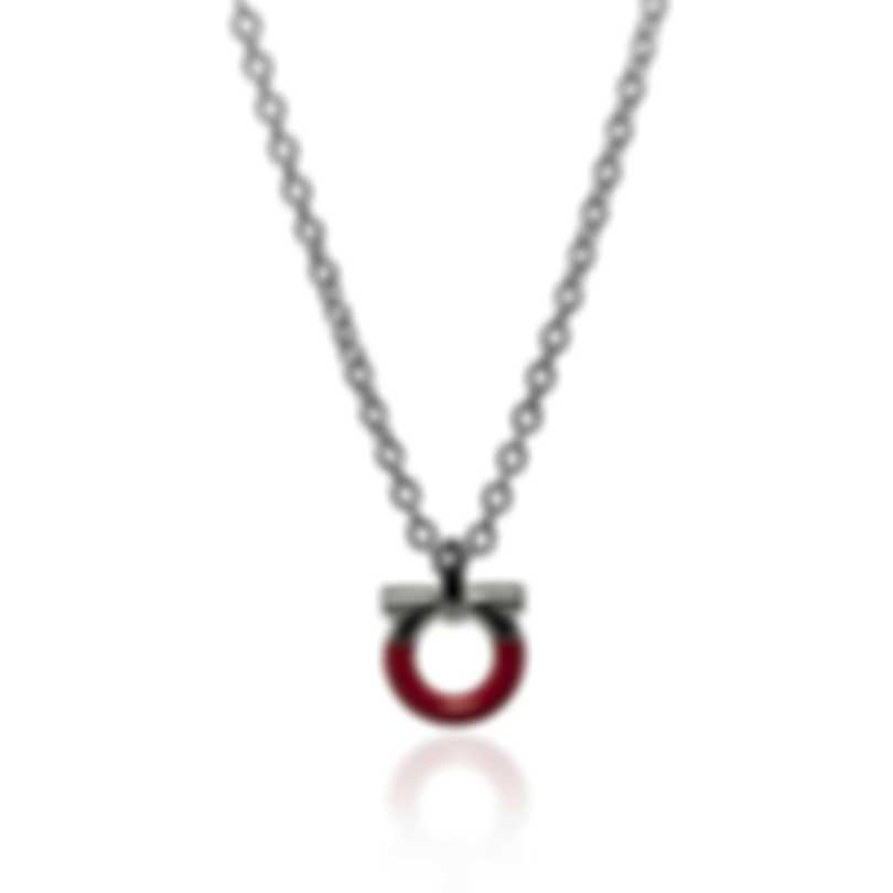 Ferragamo Charms Sterling Silver And Enamel Necklace 705122