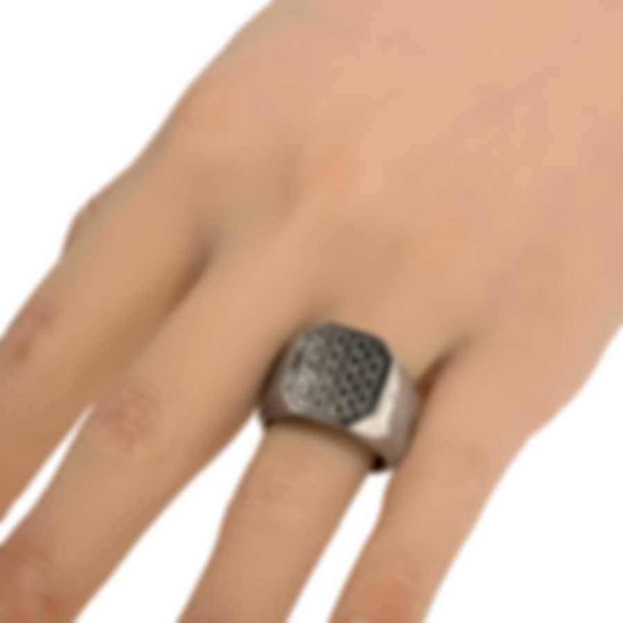 Ferragamo Gancini Rhodium Silver Ring Sz 8.5 705134