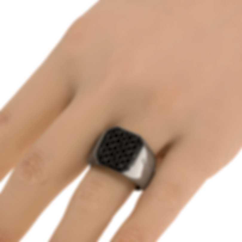 Ferragamo Gancini Rhodium Silver Ring Sz 9 705135