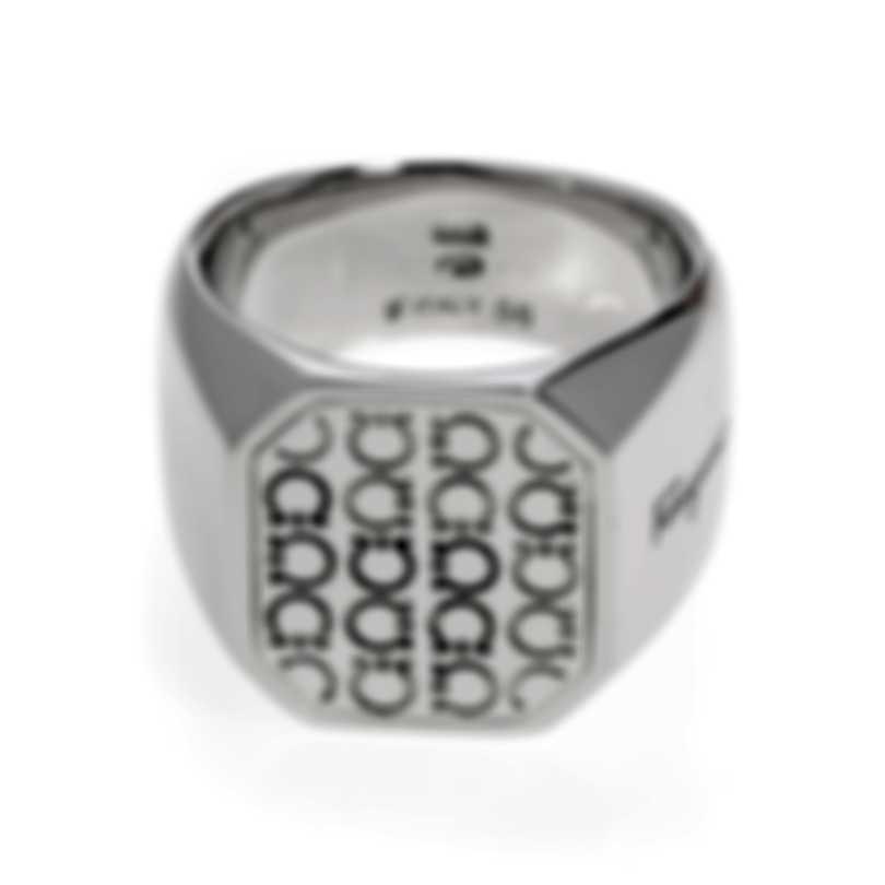 Ferragamo Gancini Sterling Silver Ring Sz 7.75 705138