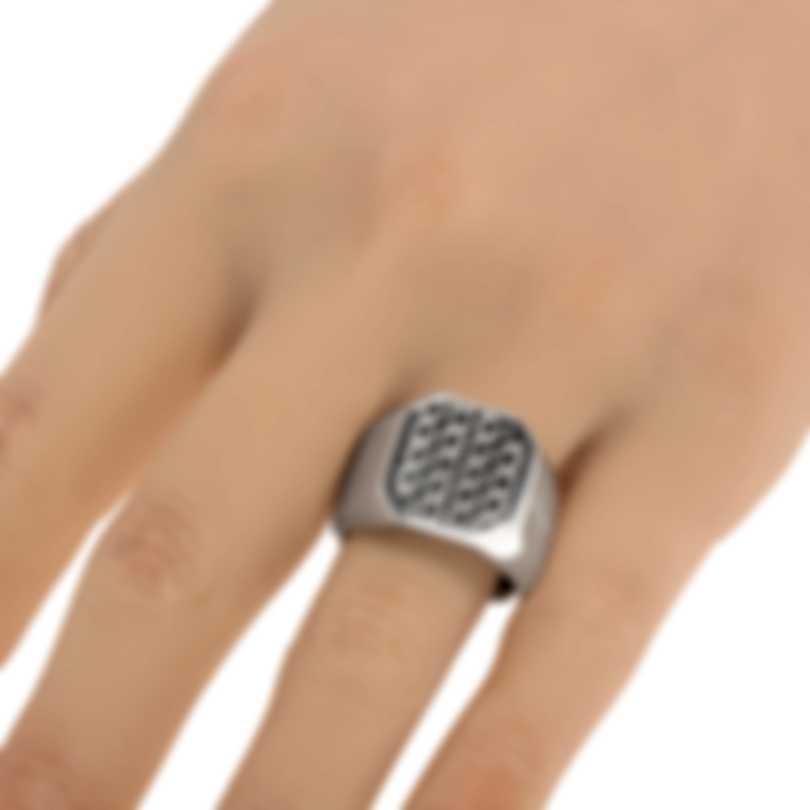 Ferragamo Gancini Sterling Silver Ring Sz 8.25 705139