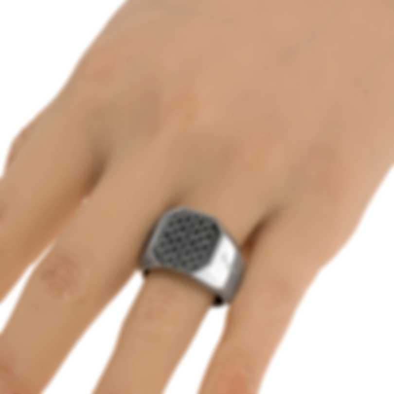 Ferragamo Gancini Sterling Silver Ring Sz 9 705140