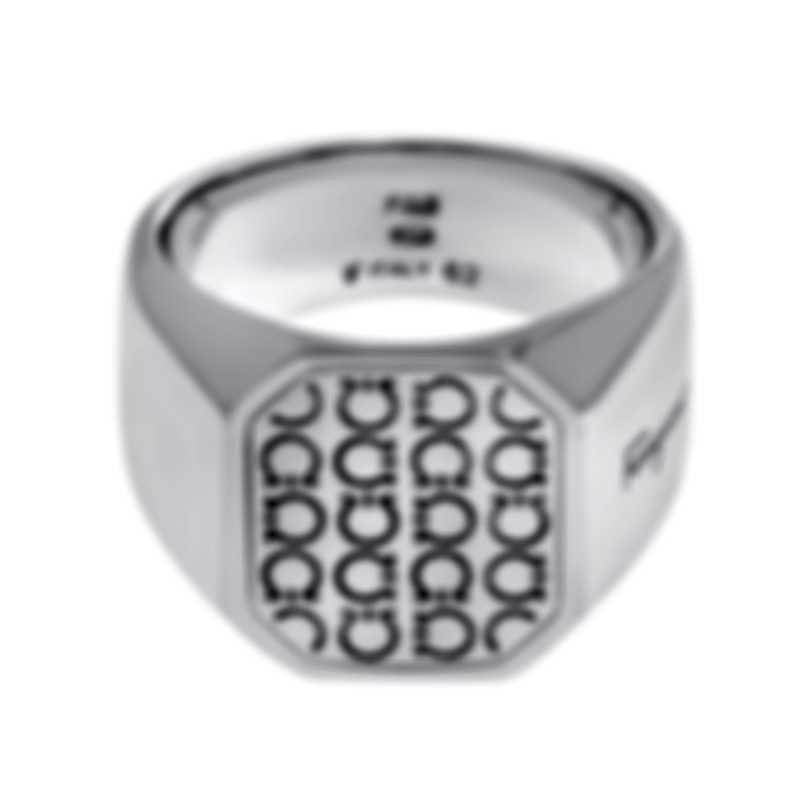 Ferragamo Gancini Sterling Silver Ring Sz 9.75 705141