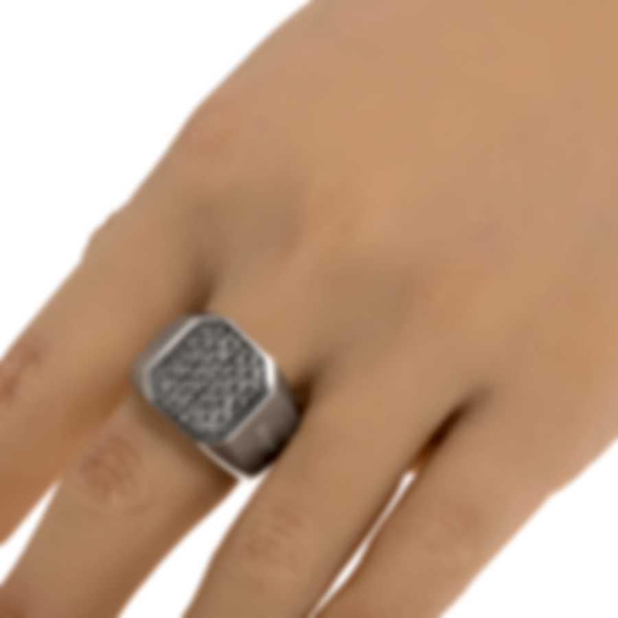 Ferragamo Gancino Sterling Silver Ring Sz 9.75 705141