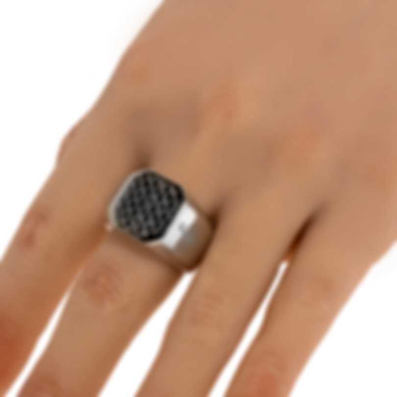Ferragamo Gancini Sterling Silver Ring Sz 10.5 705142