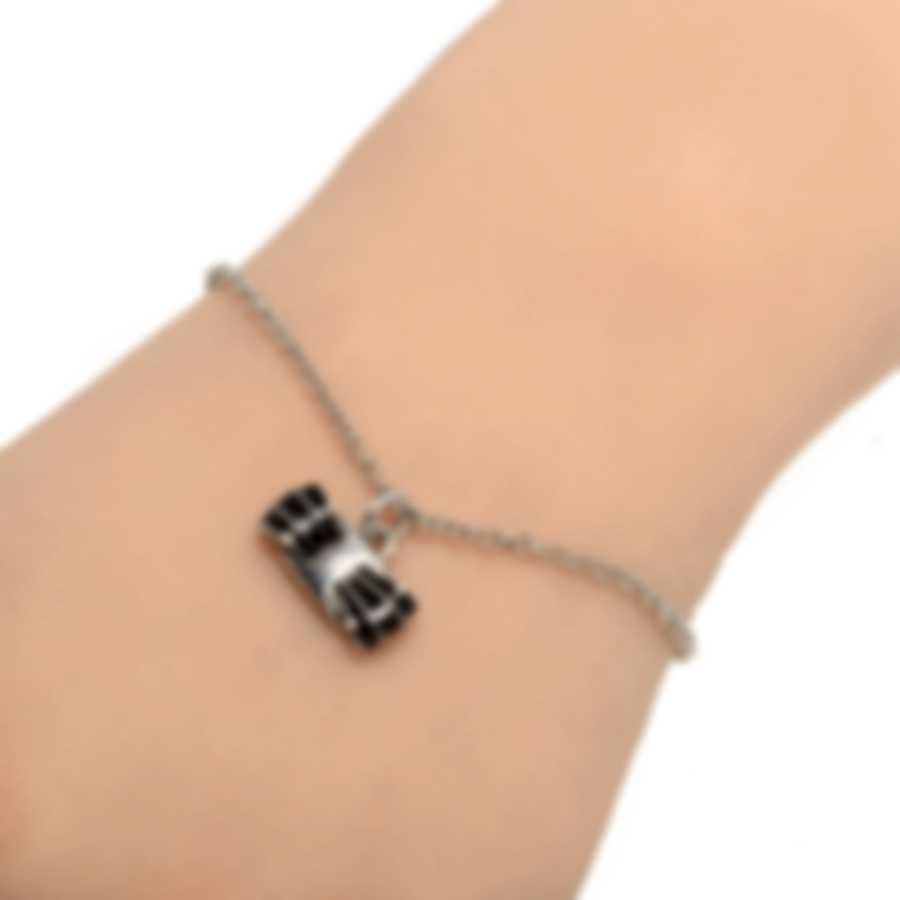 Ferragamo Vara Sterling Silver And Enamel Bracelet 705378