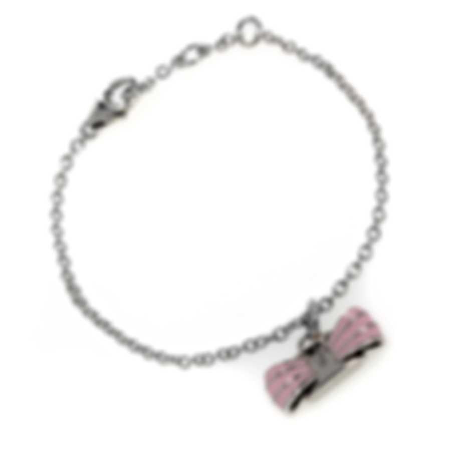 Ferragamo Vara Sterling Silver And Enamel Bracelet 705379