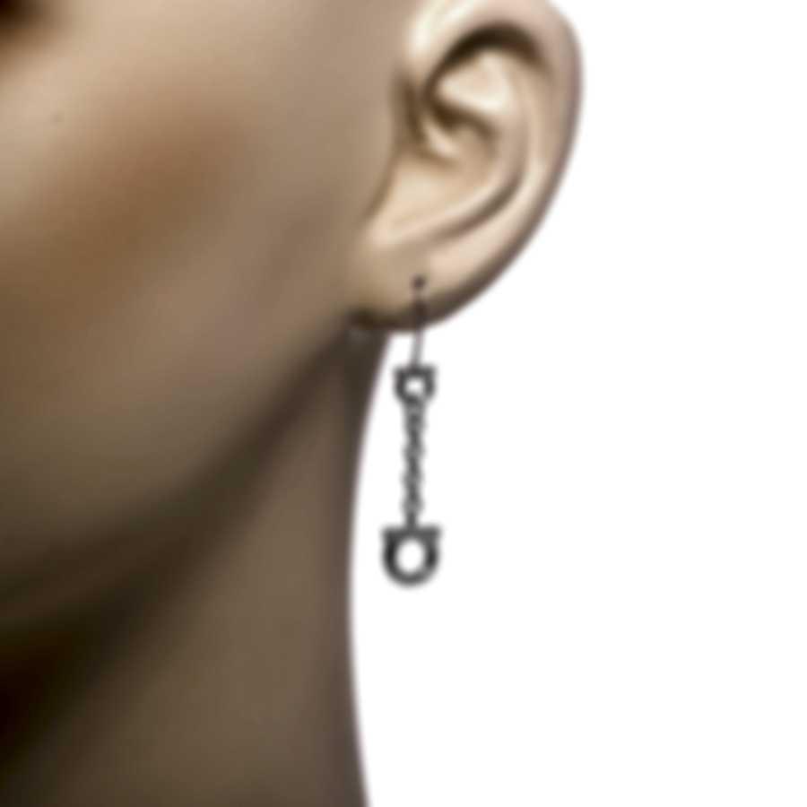Ferragamo Gancini Sterling Silver Earrings 705386