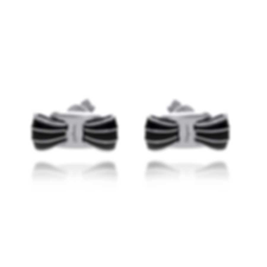 Ferragamo Vara Sterling Silver And Enamel Earrings 705388