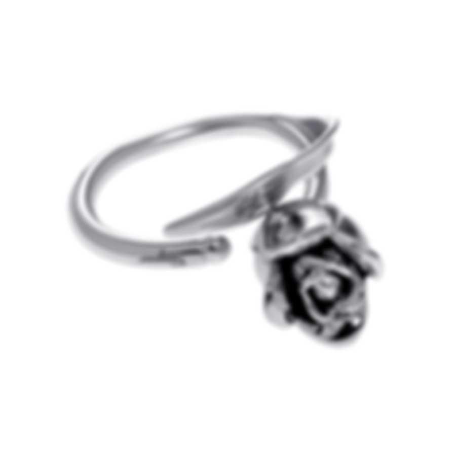 Ferragamo Capsule - Tulipano Sterling Silver Ring Sz 7.75 711765