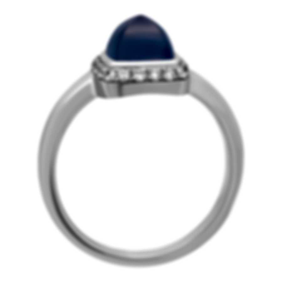 Fred Of Paris Gold Diamond 0.15ct Chalcedony Pain De Sucre RingSz6 4B0687-052
