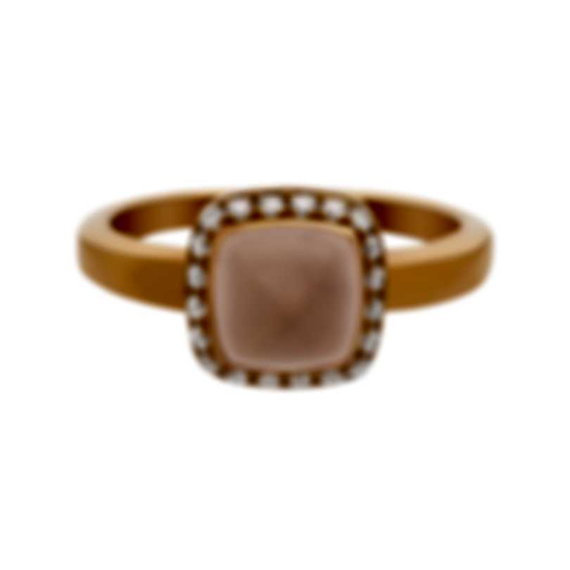 Fred Of Paris Gold Diamond 0.15ct Quartz Pain De Sucre Ring 4B0685