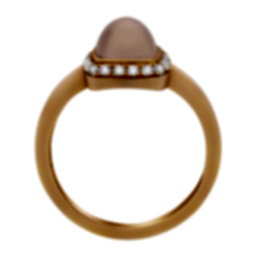 Fred Of Paris Gold Diamond 0.15ct Quartz Pain De Sucre Ring Sz 6.75 4B0685-054