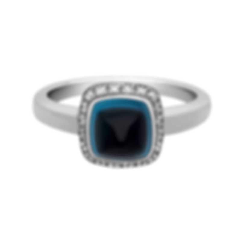 Fred Of Paris Gold Diamond 0.15ct Topaz Pain De Sucre Ring 4B0686
