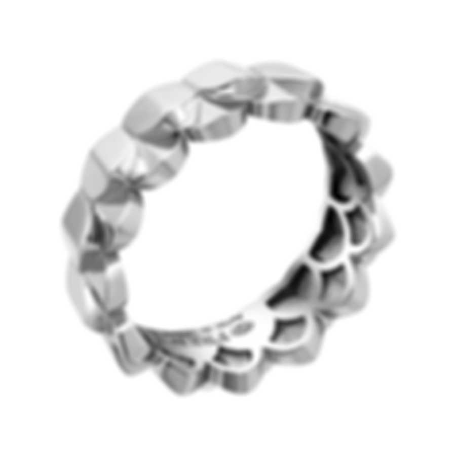 Fred Of Paris 18k White Gold Une Ile D'or Ring 4B0741