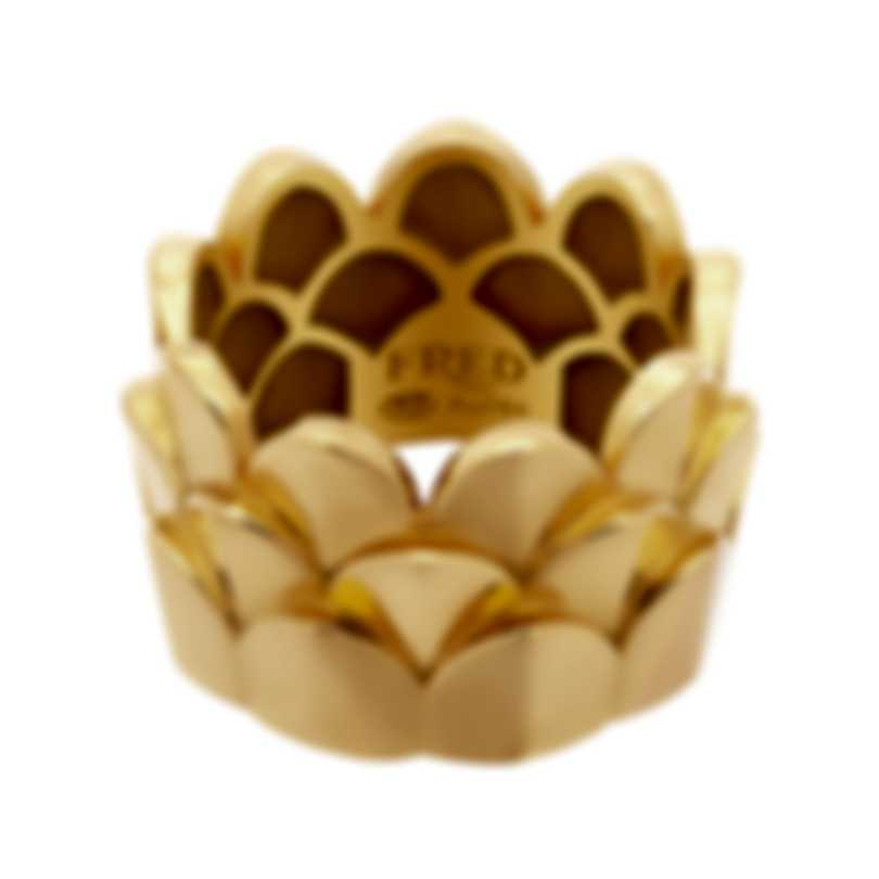 Fred Of Paris 18k Yellow Gold Une Ile D'or Ring Sz 5.25 4B0746-049