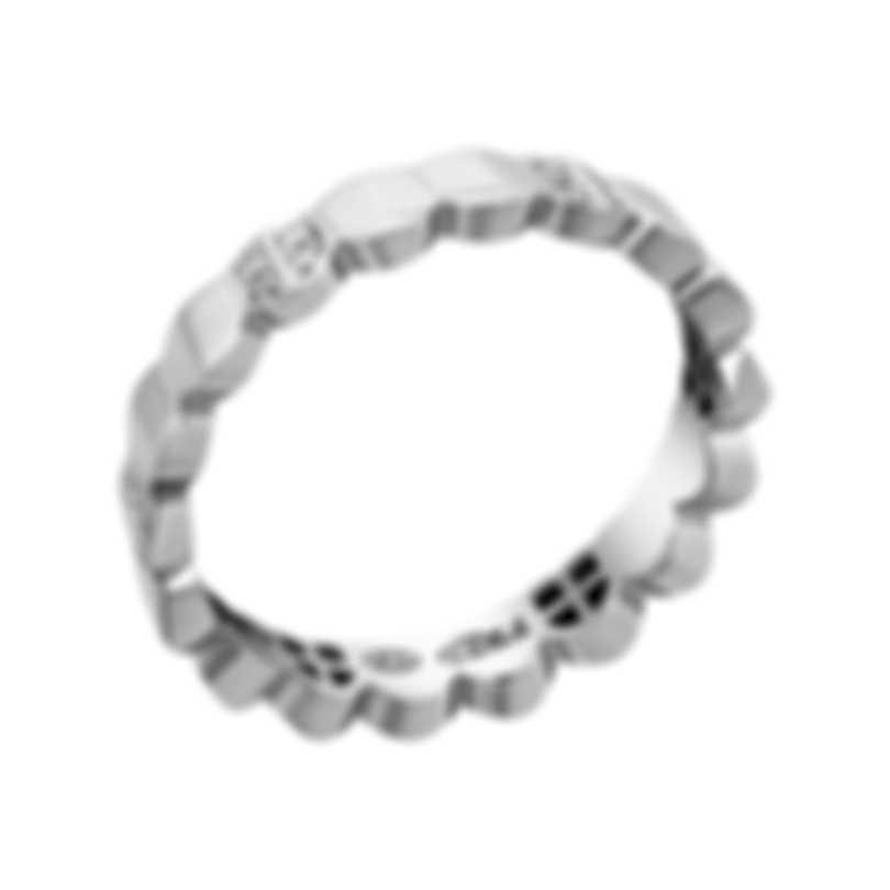 Fred Of Paris 18k White Gold Diamond 0.1ct Une Ile D'or Ring 4B0777