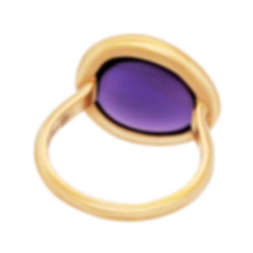 Fred Of Paris 18k Rose Gold Amethyst Belles Rives Ring 4B0813
