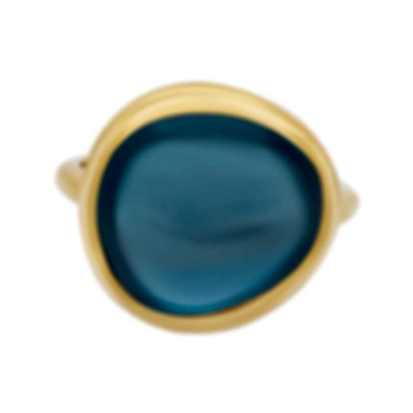 Fred Of Paris 18k Yellow Gold And Topaz Belles Rives Ring 4B0811