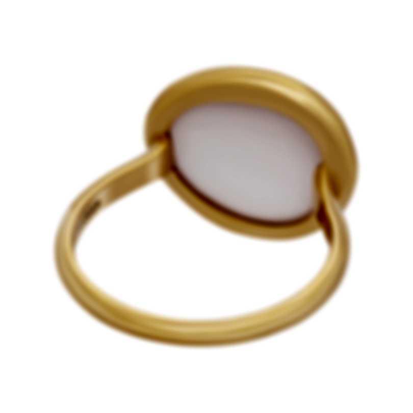 Fred Of Paris 18k Rose Gold And Pink Quartz Belles Rives Ring 4B0812