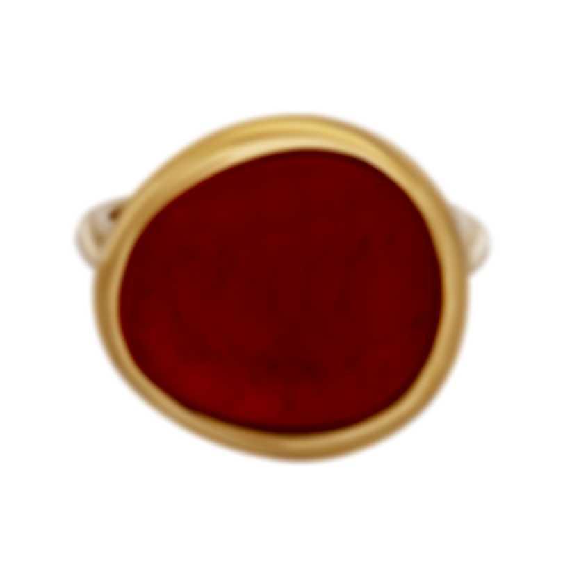 Fred Of Paris 18k Rose Gold Rhodochrosite Belles Rives Ring 4B0814