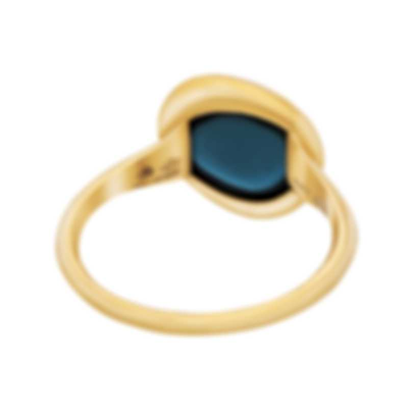 Fred Of Paris 18k Yellow Gold And Topaz Belle Rives Ring 4B0923
