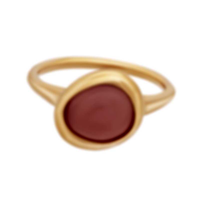 Fred Of Paris 18k Rose Gold And Pink Quartz Belle Rives Ring 4B0924