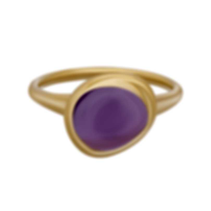 Fred Of Paris 18k Rose Gold And Amethyst Belles Rives Ring 4B0925
