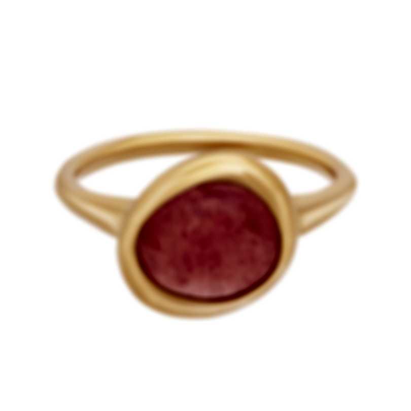 Fred Of Paris 18k Rose Gold Rhodochrosite Belles Rives Ring 4B0926
