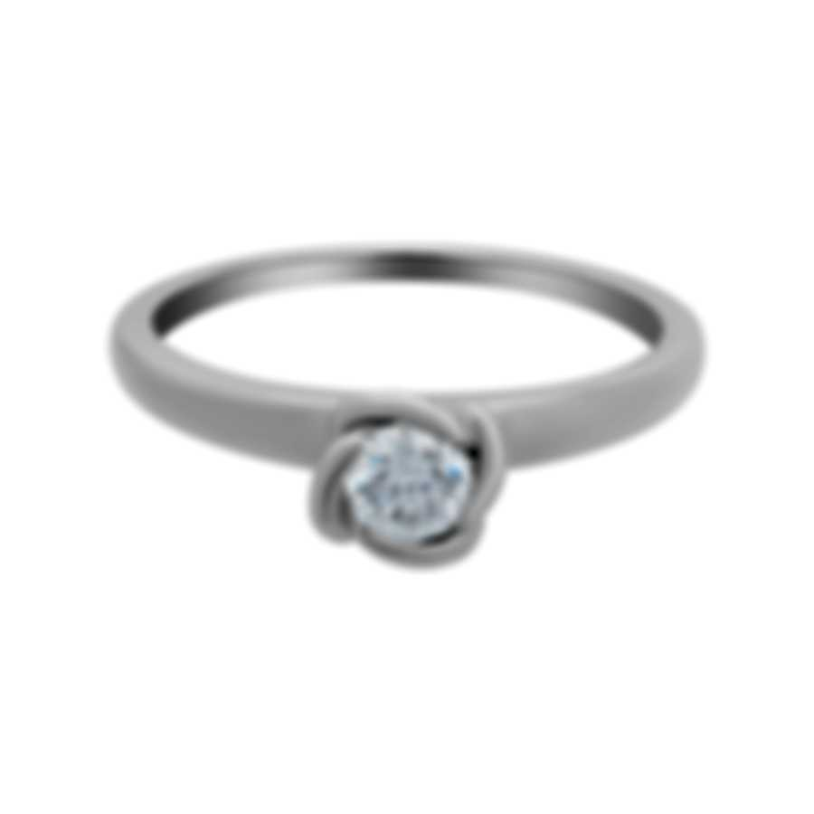 Fred Of Paris Fleur Celeste Platinum Diamond 0.33ct Ring Sz 5.25 4J0686-050