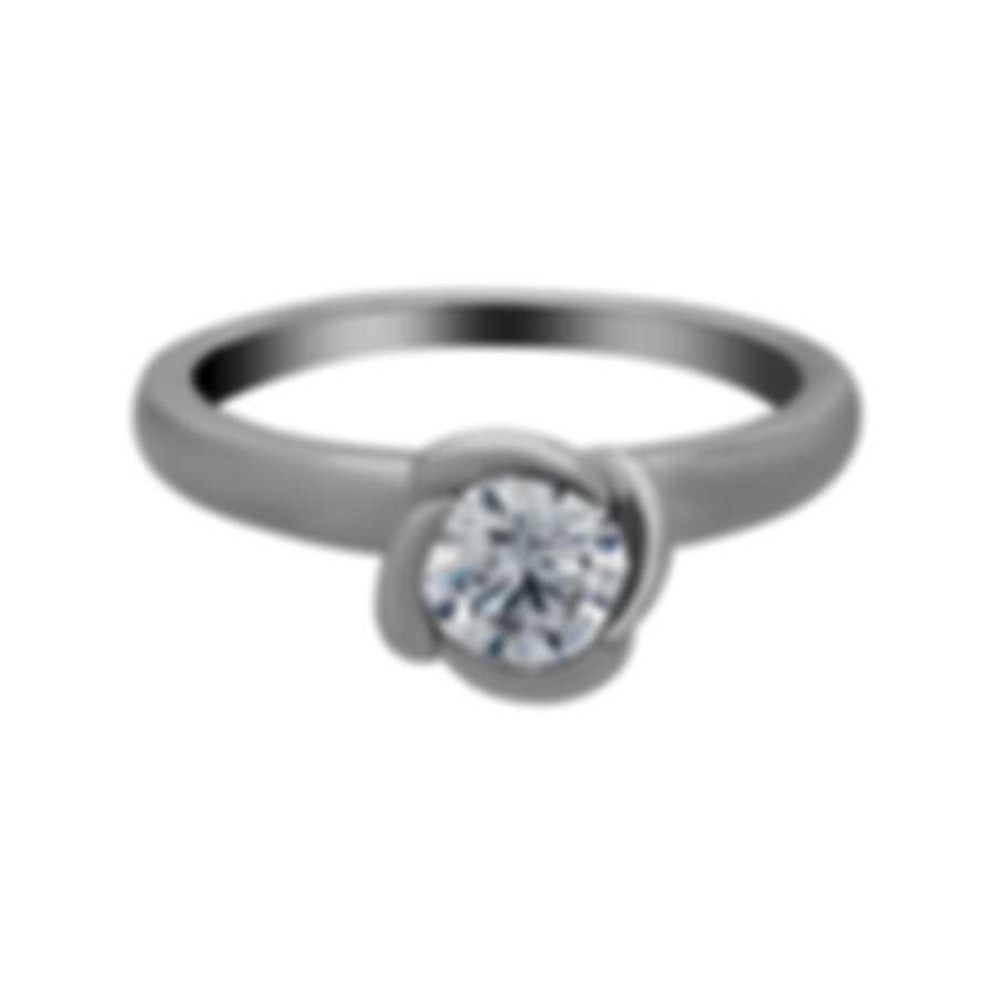 Fred Of Paris Fleur Celeste Platinum Diamond 0.52ct Ring Sz 4.5 4J0687-048