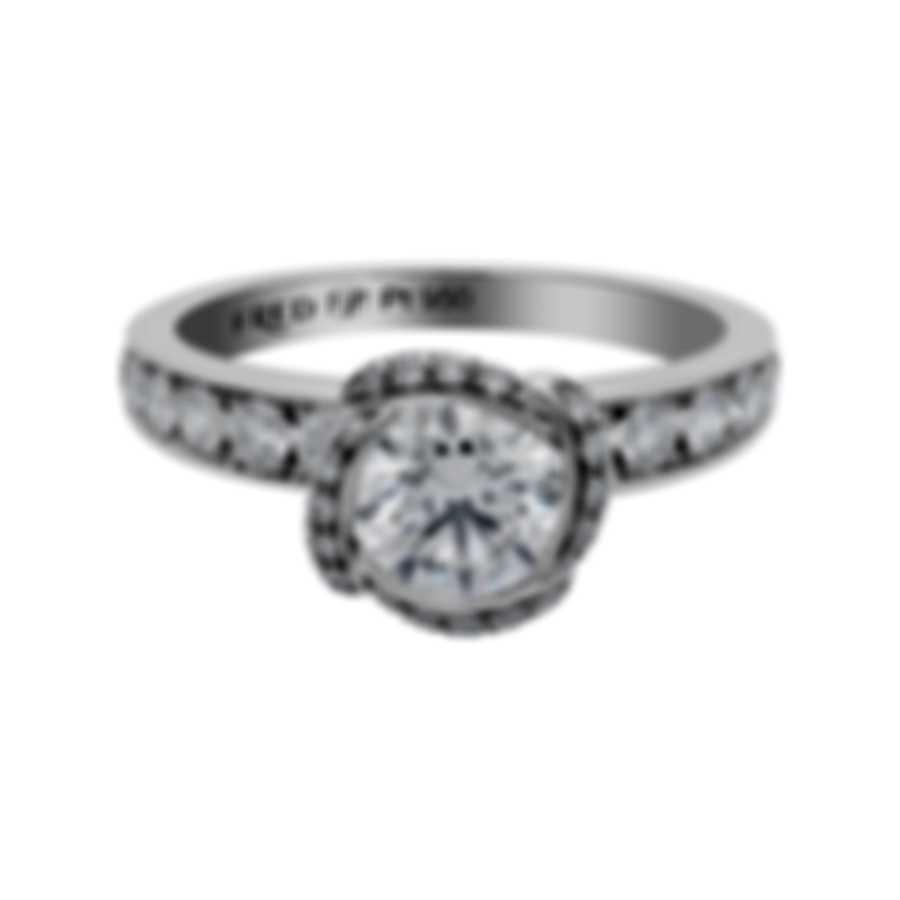 Fred Of Paris Fleur Celeste Platinum Diamond 1.23ct Ring Sz 5.25 4J0688-050