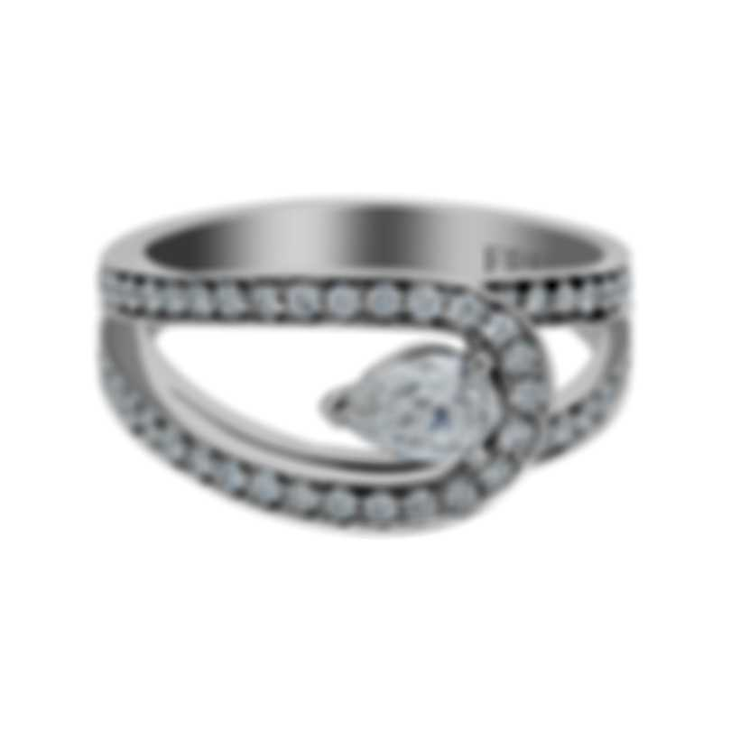 Fred Of Paris Lovelight 18k White Gold Diamond 0.86ct Ring Sz 7.25 24J0735-055