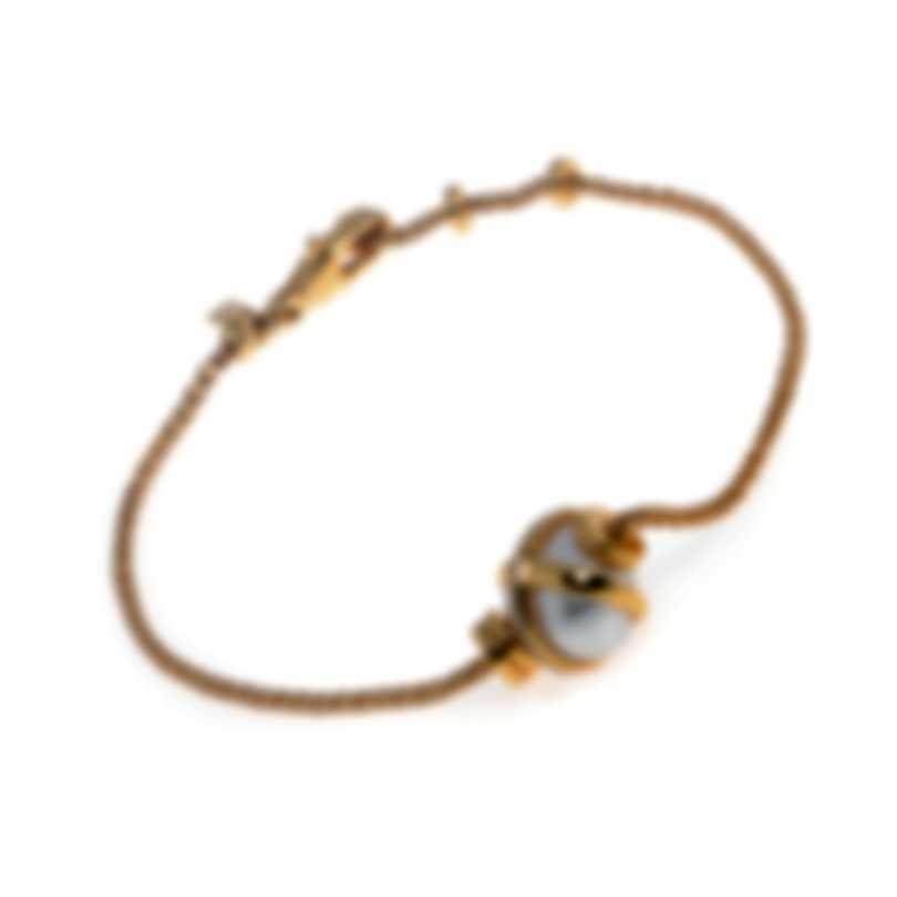 Fred Of Paris Baie Des Anges 18k Yellow Gold Diamond & Pearl Bracelet 6B0179-000
