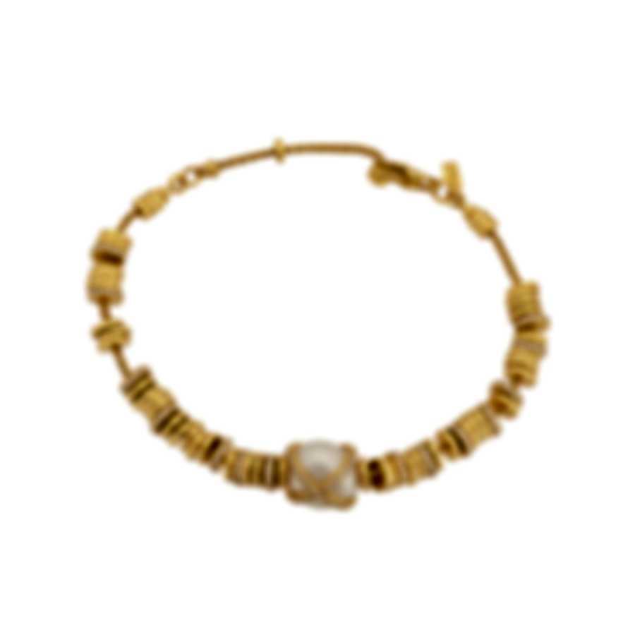 Fred Of Paris 18k Gold Diamond 1.06ct Pearl Baie Des Anges Bracelet 6B0278-000