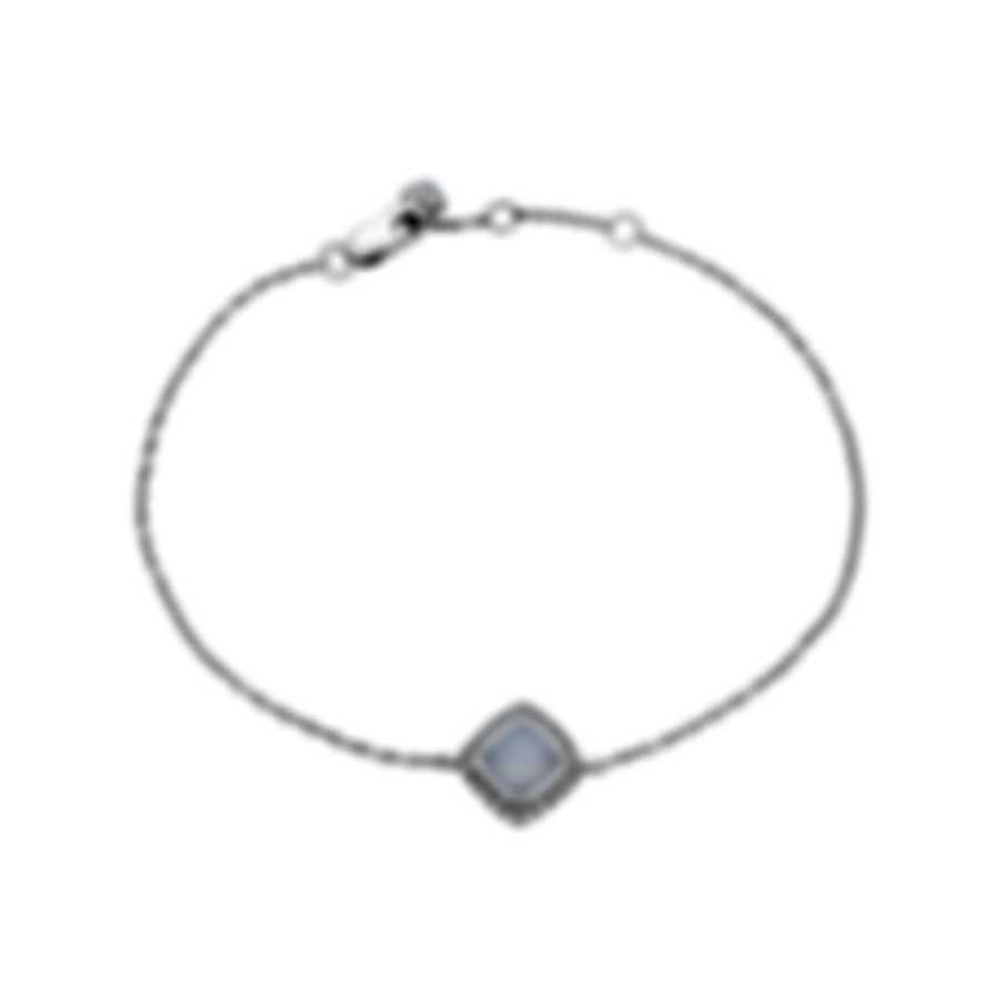 Fred Of Paris Gold Diamond 0.1ct Chalcedony Pain De Sucre Bracelet 6B0237-000