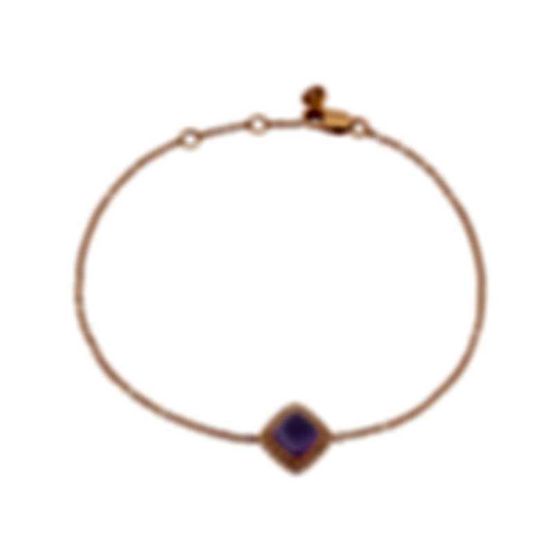 Fred Of Paris 18k Gold Diamond 0.1ct Amethyst Pain De Sucre Bracelet 6B0235-000