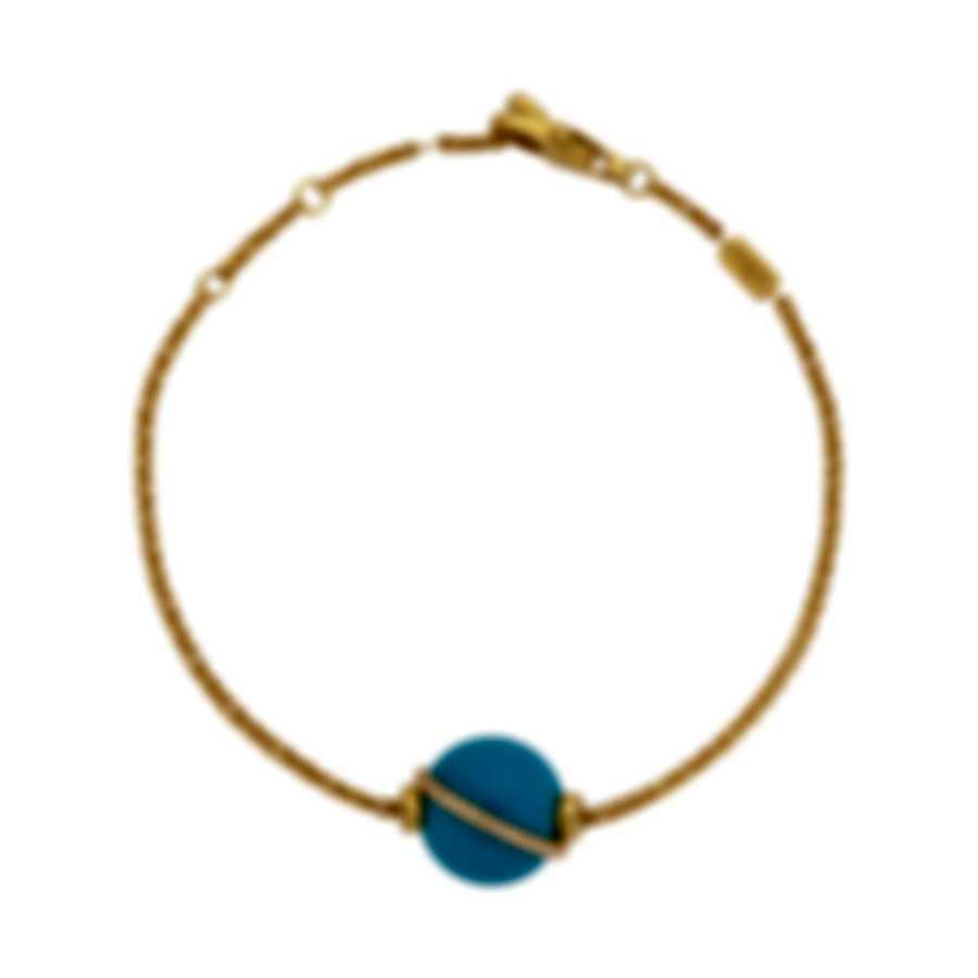 Fred Of Paris Gold Diamond 0.15ct Turquoise Baie Des Anges Bracelet 6B1004-000