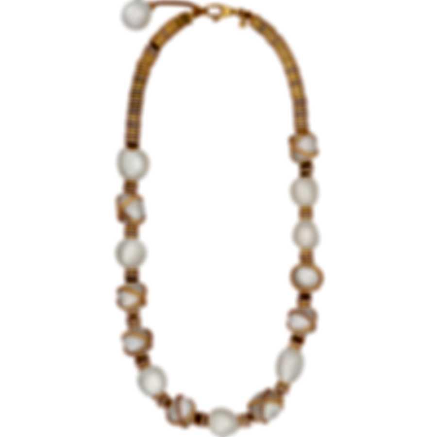 Fred Of Paris 18k Gold Diamond 2.55ct Pearl Baie De Anges Necklace 7J0235-000