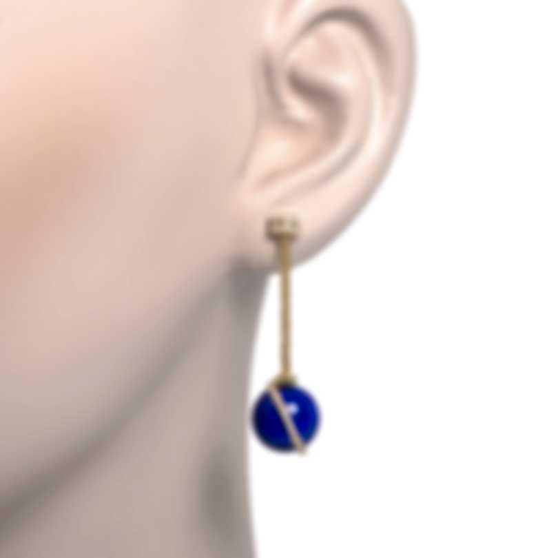 Fred Of Paris Baie Des Anges 18k Yellow Gold Diamond & Lapis Lazuli Earrings-1