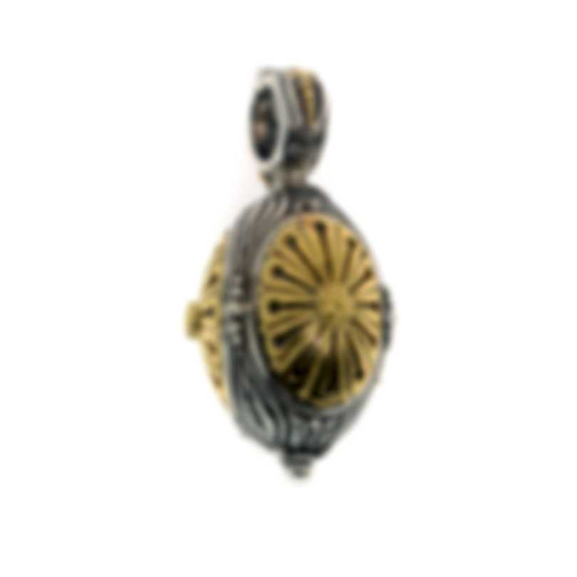 Konstantino Hebe Sterling Silver And 18k Yellow Gold Pendant MEKJ608-130