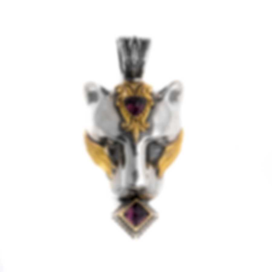 Konstantino Sterling Silver & 18k Yellow Gold & Rhodolite Pendant MEKJ682-128
