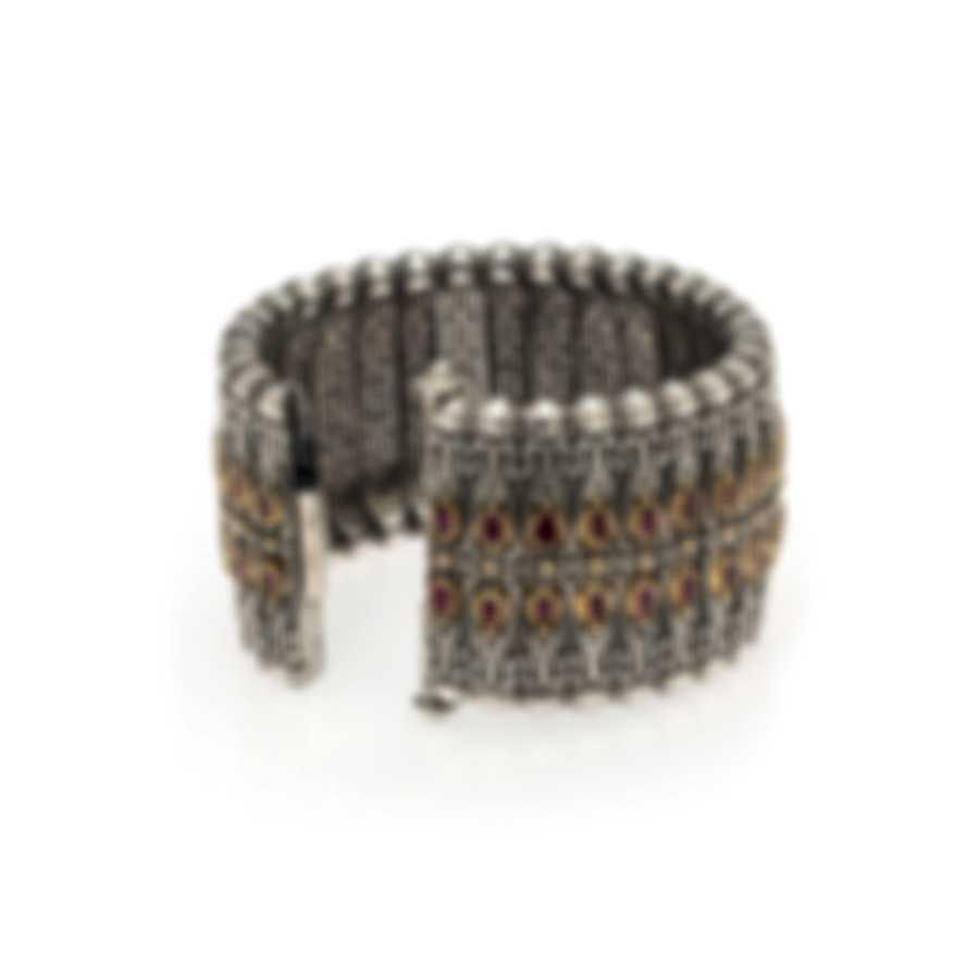Konstantino Sterling Silver And Garnet Bracelet BKJ480-112-CUT