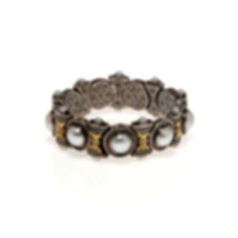 Konstantino Kassandra Sterling Silver & 18k Yellow Gold & Pearl Bracelet BKJ428