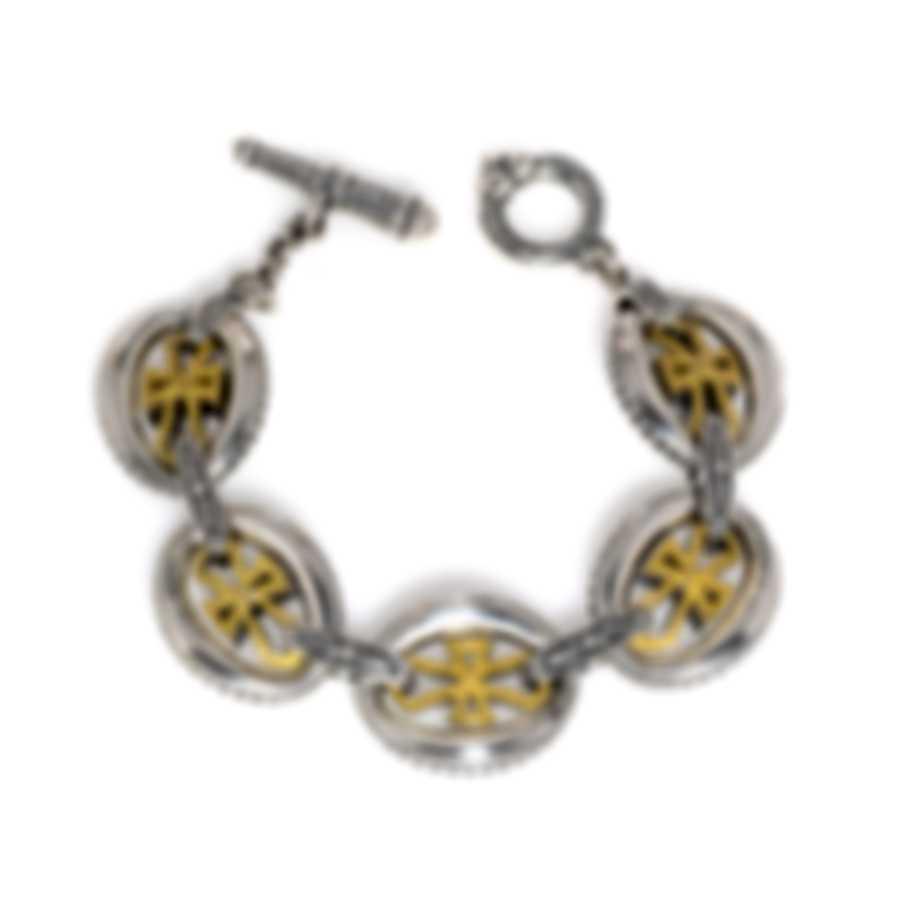 Konstantino Sterling Silver And 18k Yellow Gold Bracelet BKJ546-130