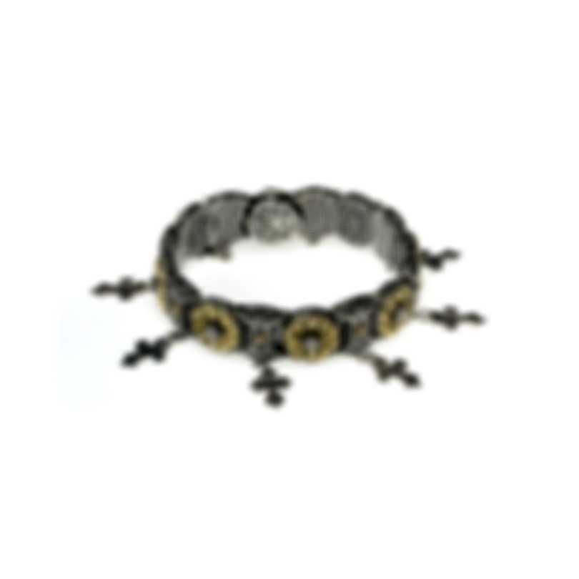 Konstantino Gaia Sterling Silver And 18k Yellow Gold Bracelet BKJ549-130